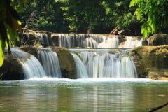 Water fall. Green stream waterfall in saraburi ,Thailand (Num Tok Chet Sao Noi National Park royalty free stock photos