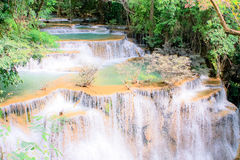 Water fall. Huay kamin water fall landmark of thailand Royalty Free Stock Photo