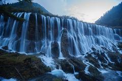 Water fall on Jiuzhaigou Valley. Clean water and silk like water fall Stock Images