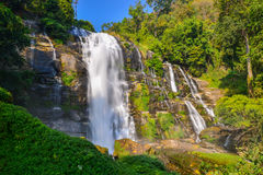 Water fall located in deep rain forest jungle Stock Image