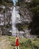 Cascate di acquafraggia in Italy. Water fall in Lombardia italy royalty free stock image