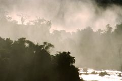 Water Fall Mist – Foz de Iguazu Royalty Free Stock Image