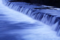 Water fall movement. Movement of a river waterfall by night Stock Photography
