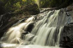 A water fall. This is a water fall in natural Hatyai, Songkhla, thailand royalty free stock image