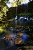 Water fall. Phukradueng National Park of Thailand.Waterfalls, caves Royalty Free Stock Photos