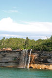 Water fall_Pictured rock Royalty Free Stock Photos