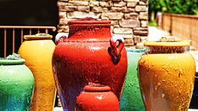 Water Fall Pots Royalty Free Stock Photo