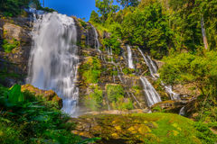 Water fall in spring season located in deep rain forest jungle Royalty Free Stock Photography