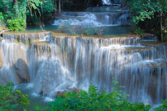 Water fall in spring season, Thailand royalty free stock images