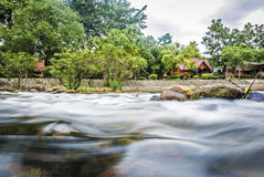 Water fall streams Stock Photos