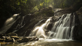 Water fall. This is Tone Nga Chang water fall in Tone Nga Chang widlife sanctuary. A waterfall in nature stock photo