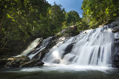 Water fall. This is a Tone Nga Chang water fall. A waterfall in nature stock photos