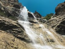 The water fall Uchan-Su in Crimea royalty free stock photography