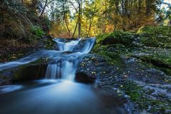 Water fall on upper little Mashel river in Eatonville WA USA royalty free stock photos
