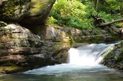 Waterfall. At Delaware water gap forest Stock Photography