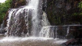 Water fall. Waterfall, intrusive rock, rock, tree, green, fall, garden, Africa Stock Photos