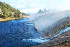 Water fall in Yellowstone National Park Royalty Free Stock Photography