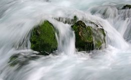 Water falling royalty free stock photography