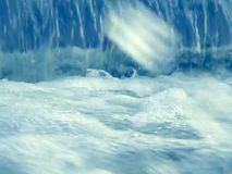 Water falling close-up stock video footage