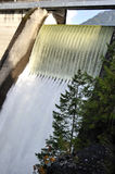 Water falling down from the reservoir Stock Image
