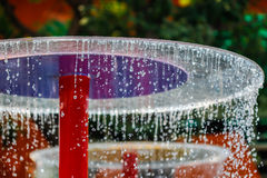 Water falling in the fun park Royalty Free Stock Photography