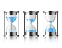 Water falling in the hourglass. Stock Images
