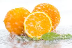 Free Water Falling Orange Royalty Free Stock Photos - 35254208