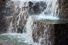 Water Falling Over Rocks Royalty Free Stock Photography