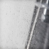 Water falling in the shower Royalty Free Stock Photo