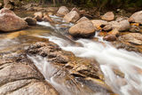 Water Falls Cascade on Tropical Forest Stock Photo