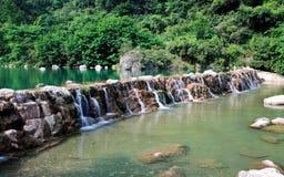 Water falls and cascades of Yun-Tai Mountain China Royalty Free Stock Image