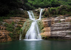 Water falls and cascades of Yun-Tai Mountain China Royalty Free Stock Photos