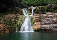 Water falls and cascades of Yun-Tai Mountain China Royalty Free Stock Photos