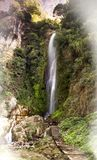 WATER FALLS MANANG royalty free stock photography