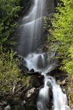 Water falls in Mount Rainier park Royalty Free Stock Photo