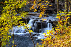 Water falls near Glade creek grist mill Royalty Free Stock Photography