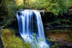 Water falls north darolina. Beautiful slow moving waterfalls from DRY FALLS North Carolina in the fall stock photo