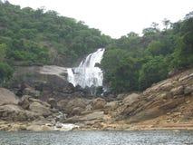 Papanasam Falls in Tamil Nadu. Water falls in Papanasam, Tirunelveli, Tamil Nadu Royalty Free Stock Photos