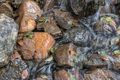 Water falls with rocks, Lubango. Angola. Stock Images