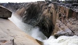 The Augrabies waterfall in the Orange Gariep river in the Norht ern Cape province of South Africa stock photography