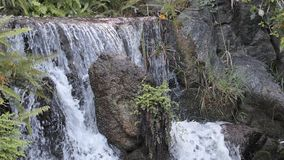 Water falls stock video footage