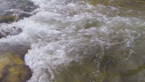 Water. Fast flowing water in a river stock video