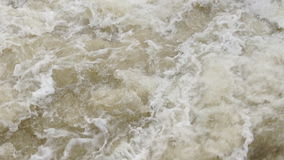 Water. Fast flowing water on the river stock video