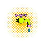 Water faucet comics icon Royalty Free Stock Photography