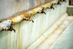 Water faucet Saiq Plateau Stock Photo