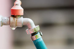Water faucet valve. Outdoor cold water faucet valve stock images