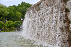 Water feature decorating a city park Royalty Free Stock Images