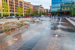 Water feature in front of Union Station in Denver Colorado Stock Photography