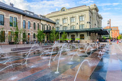 Water feature in front of Union Station in Denver Colorado Royalty Free Stock Image
