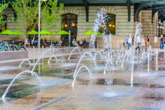 Water feature in front of Union Station in Denver Colorado Royalty Free Stock Photos